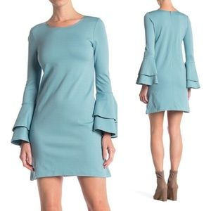 LOVE...ADY Bell Sleeve Ponte Dress